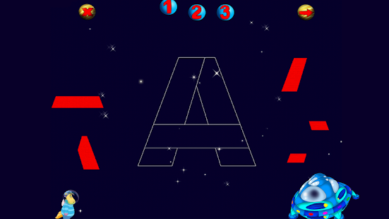 ABC Puzzle: Space Journey free - screenshot