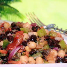 Black Bean and Garbanzo Salad