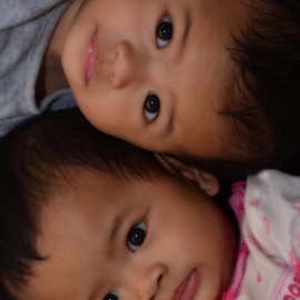 ~ Sisters ~ by Aziz Faiz - Babies & Children Toddlers ( babies, children, toddlers, twins )