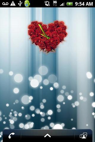 BEAUTIFUL ROSES Heart Clock