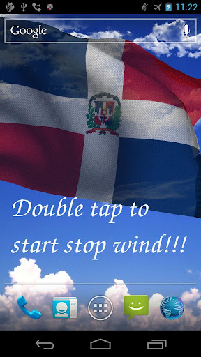 3D Dominican Flag LWP