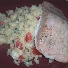 Salmon Fillets over Couscous