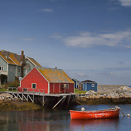 Peggys Cove. by Carl Chalupa - Landscapes Waterscapes ( peggys cove, nova scotia, halifax, boat, fishing port )