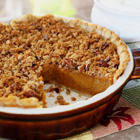 Sweet Potato Pie with a Pecan-Crunch Streusel