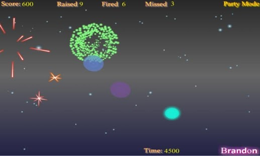 Space Fireworks - screenshot