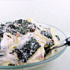 Pappardelle Pasta with Swiss Chard and Ricotta Cheese
