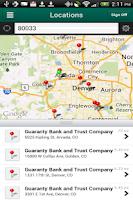 Screenshot of Guaranty Mobile Banking
