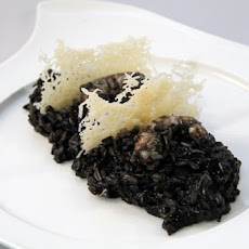 Black Rice with Shrimp and Leeks