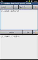 Screenshot of Offline Translator Spanish
