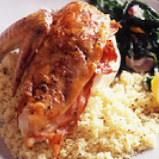 Prosciutto-Stuffed Chicken with Creamed Spinach