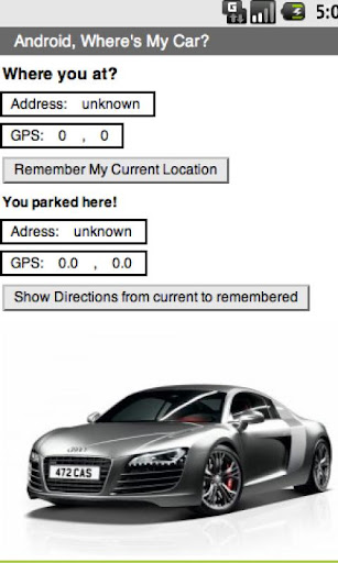 Where you at car