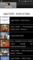 Screenshot of Japji Sahib - Audio & Video