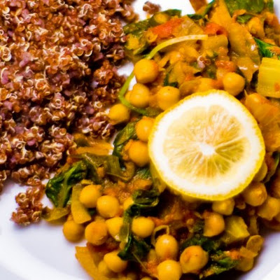 Chickpeas With Spring Greens