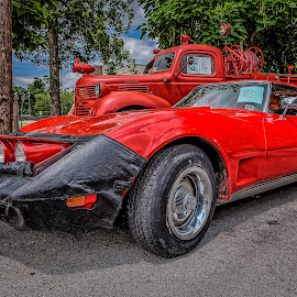 Red Vette by Ron Meyers - Transportation Automobiles