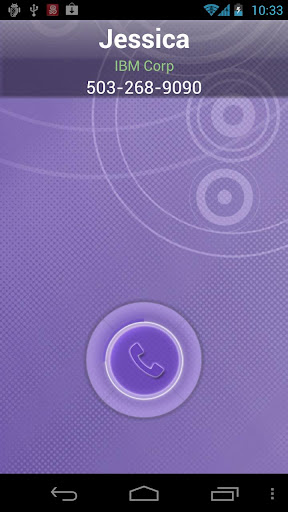 RocketDial CallerID Purple