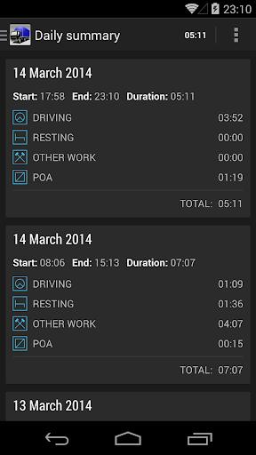 TruckerTimer - screenshot