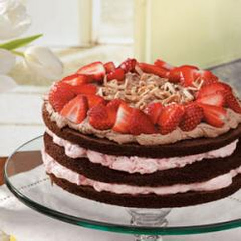 Strawberry-Almond Chocolate Torte