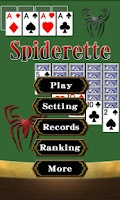 Screenshot of Solitaire Spiderette