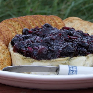 Baked Brie w/ Blueberry Sauce