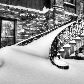 by Blaine Stauffer - Buildings & Architecture Architectural Detail ( winter, stairs, snow )