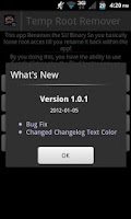 Screenshot of Temp Root Remover OLD