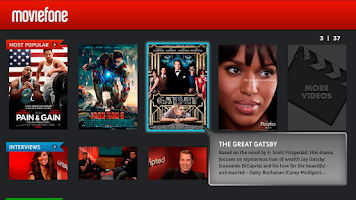 Screenshot of Moviefone for Google TV