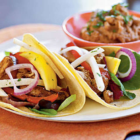 Fiesta Chicken Tacos with Mango and Jicama Salad