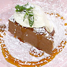 Velvet Chocolate Torte with Clear Orange-Caramel Sauce