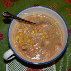 Cajun Corn and Shrimp Chowder