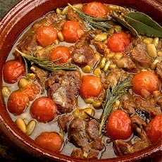 Braised Lamb with Flageolet Beans