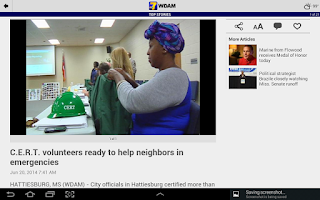 Screenshot of WDAM Local News