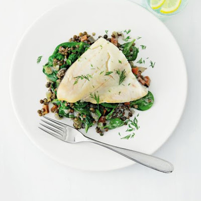 Smoked Haddock With Lemon & Dill Lentils