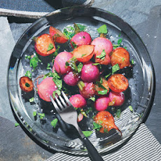 Roasted Radishes with Brown Butter, Lemon, and Radish Tops