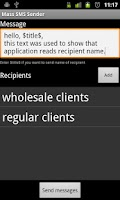 Screenshot of SMS Marketing Tool