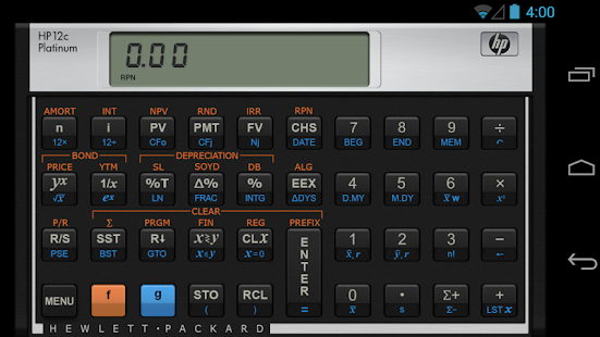 HP 12C Platinum Calculator screenshot for Android