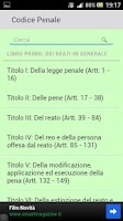 Screenshot of Codice Penale Italiano 2013