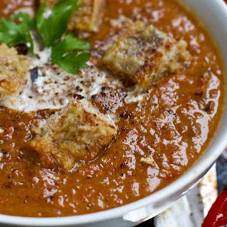 Roasted Tomato, Garlic, & Onion Coconut Soup