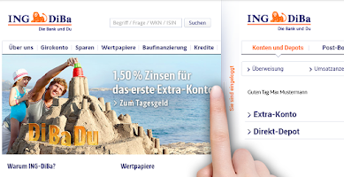 Screenshot of ING-DiBa (alte Version)