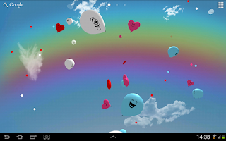 Screenshot of Balloons 3D live wallpaper