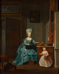 RIJKS: Hermanus Numan: Susanna van Collen née Mogge and her daughter 1776