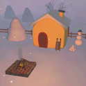 Snowman's Lodge 3D Wallpaper icon