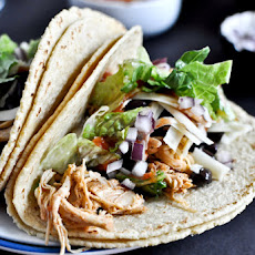 Crockpot Cheddar Beer Chicken Tacos