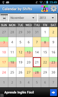 Screenshot of Calendar By Shifts Free