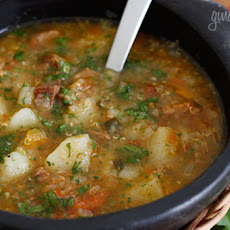 Beef, Potato and Quinoa Soup