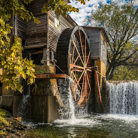 Grist Mill in Pigeon Forge, TN by Thomas Sprunger - Buildings & Architecture Public & Historical ( water, pigeon forge, grist mill, smoky mountains, historic )