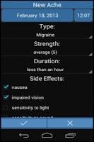 Screenshot of Headache Diary