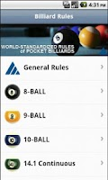 Screenshot of Official Billiard Rules Lite