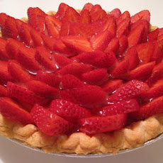 Healthy Strawberry Satin Pie
