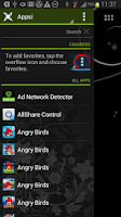 Screenshot of Appsi sidebar