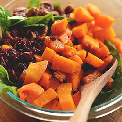 Warm Roasted Butternut Squash Salad